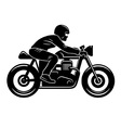 Cafe Racer Silhouette 001 vector image