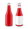 tomato ketchup bottle for branding with label