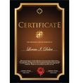 Brown Certificate template vector image vector image