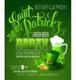 St Patricks Day poster vector image