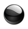 shiny sphere 02 black vector image