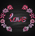 Hand drawn chalk lettering vector image vector image