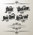 classical restaurant decorativ vector image vector image