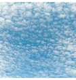 Beautiful Cloudy Sky vector image