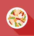chicken fried with cashew nuts vector image