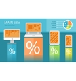 Infographic of electronic device vector image