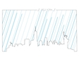 Isolated skyline of New york vector image
