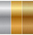 Metal textures vector image