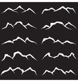 set of mountains vector image