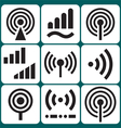 Signal Icons Set vector image