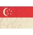 Singapore paper flag vector image