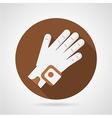 Sport glove flat icon vector image
