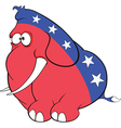 The American elephant The elephant party vector image