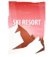 winter sport ski and snowboard mountain vector image