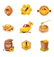 Honey And Related Food Label Set Of vector image