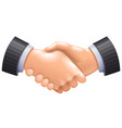 3d handshake icon isolated on white vector image