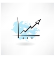 chart grunge icon vector image vector image