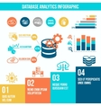Database analytics infographics vector image vector image