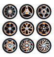 Aluminium wheels pack vector image