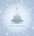 Silver Christmas tree vector image vector image