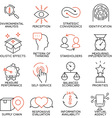 Set of icons related to business management -5 vector image