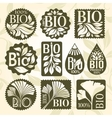 Bio product Set of labels and stikers vector image