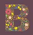 B letter color variant vector image