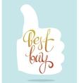 best buy lettering vector image