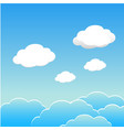 blue sky with clouds of the day esp10 vector image