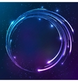 Bright shining neon lights circle background vector image