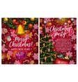 christmas lights garland sketch greeting vector image