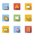 Finance icons set flat style vector image