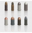 Photorealistic cartridges with a bullet isometric vector image