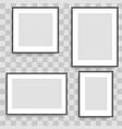 set of black photo frames vector image