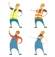 Set of builders vector image