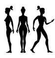 silhouette woman on a white background vector image