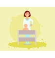 Vaccinations baby vector image