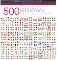 huge mega set of 500 business paper origami style vector image vector image