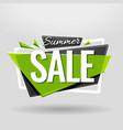 summer sale geometric banner vector image vector image