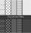 Set of black white Pattern4 vector image