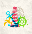 travel paper vector image