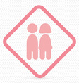 people pictogram symbol on sign vector image