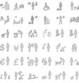 website and internet 3d icons - people vector image vector image