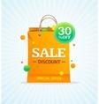 Sale Label Paper Bag vector image vector image