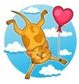 cute valentine cat vector image