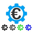 euro options flat icon vector image