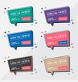 flat sale banner design templates in memphis vector image