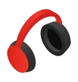 Headphone isometric 3d icon vector image