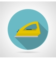 Modern iron flat icon vector image
