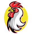 rooster head mascot vector image